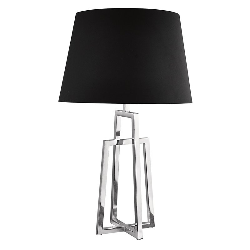 Veioza Searchlight Table Black Chrome