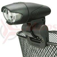 Suport lumina KLICKFIX cu prindere clips pentru cos, negru