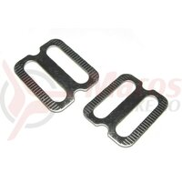 Adapter plate set Milo for shoes with strongly profiled soles