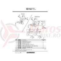 Adaptor brazed-on Shimano SM-FD74-LW FD-7400