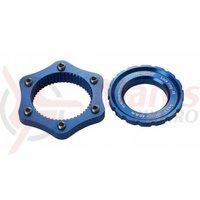 Adaptor centerlock Reverse albastru