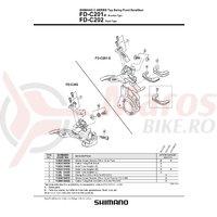 Adaptor pentru schimbator fata Shimano FD-C201-E (S) 28.6mm