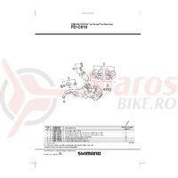 Adaptor pentru schimbator fata Shimano FD-M510 M-size 31.8mm 1-1/4