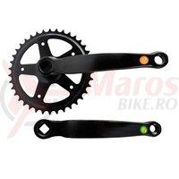 Angrenaj pedalier Clasic, 38T, negru