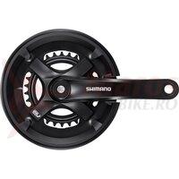 Angrenaj pedalier Shimano Tourney FC-TY501-2, 46X30T, brat 170mm, pt. 7/8 vit. pe spate, cu CG