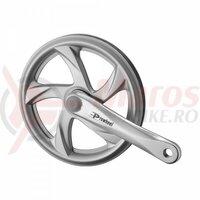 Angrenaj Prowhell Pro-648PP,170mm, 3/32x48T otel, argintie, dublu CG plastic argintiu, OEM