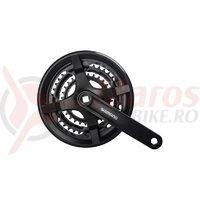 Angrenaj Shimano Tourney FC-TY301 48x38x28T 175mm pt. 6/7/8 vit. CG negru vrac