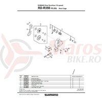 Ansamblu B-AXLE Shimano RD-R350-10