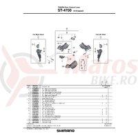 Ansamblu complet mecanism intern Shimano ST-4700 stanga
