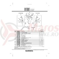 Ansamblu corp maneta Shimano ST-3300-7 dreapta
