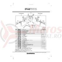 Ansamblu corp maneta Shimano ST-4400 stanga