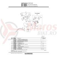 Ansamblu corp maneta Shimano ST-5601 stanga negru
