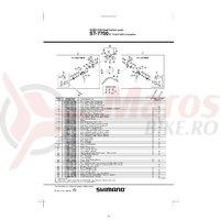 Ansamblu corp maneta Shimano ST-7700 stanga