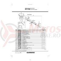 Ansamblu corp maneta Shimano ST-7703 stanga