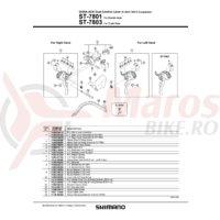 Ansamblu corp maneta Shimano ST-7801 stanga