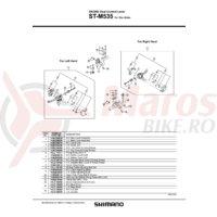 Ansamblu corp maneta Shimano ST-M535 stanga