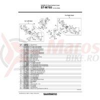 Ansamblu corp maneta Shimano ST-M765 dreapta