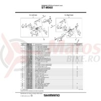 Ansamblu corp maneta Shimano ST-M960 stanga