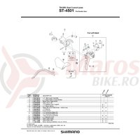Ansamblu corp maneta stanga ST-4501 Shimano