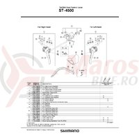 Ansamblu pentru maneta de schimbator Shimano ST-4500 dreapta