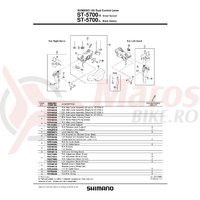 Ansamblu Shimano ST-5700 dreapta argintiu