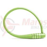 Antifurt cablu siliconat Knog Party Combo verde