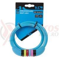 Antifurt cu cifru M-Wave DS 12.6,5 S 12x650 mm albastru