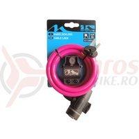 Antifurt M-Wave 10x1800 cm cheie roz