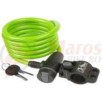 Antifurt M-Wave 10x1800 cm cheie verde