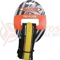 Anvelopa 700X23C Maxxis Fuse black/yellow 27TPI wire Road