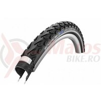 Anvelopa Schwalbe Land Cruiser Plus, Active Line, Puncture Guard, 28x1.75 (47-622) B/B+RT, HS450, negru cu dunga reflectorizanta