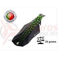 Aparatoare Noroi Spate LASALLE SPORTS UTAH#3 Negru Matt-Verde Lime 150x375 mm