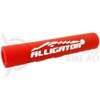 Aparator invelis cablu - ALLIGATOR - HPR12RD, silicon, serration type / 5 x 40, rosu