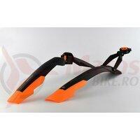 Aparatori Simpla ADHD SDL 27,5'-29' ptr.bicicleta cu suspensie, strangere rapida, negru/portocaliu, B352