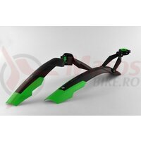 Aparatori Simpla ADHD SDL 27,5'-29' ptr.bicicleta cu suspensie, strangere rapida, negru/verde, B359