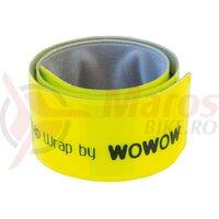 Banda reflectoare pentru mana/picior Wowow galben, self-rolling 38x3cm