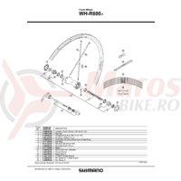 Ax butuc fata Shimano WH-R600-F 108mm 4/14