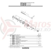 Ax butuc Shimano FH-M785 complet