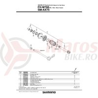 Ax butuc Shimano FH-M788 complet