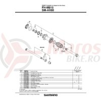 Ax butuc Shimano FH-M815 146mm