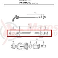 Ax butuc Shimano FH-RM35 complet 146mm 5-3/4