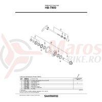 Ax butuc Shimano HB-7900