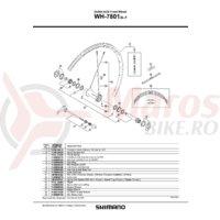 Ax butuc Shimano WH-7801-SL-F 99.3mm 3-15/16