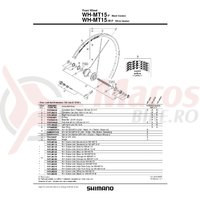 Ax butuc Shimano WH-MT15-F 108mm (5-1/4