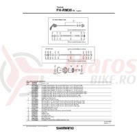 Ax butuc spate Shimano FH-RM30-NT nut type 185mm 7-9/32