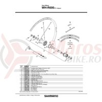 Ax butuc spate Shimano WH-R600-R 121.5mm