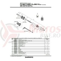 Ax complet pt. butuc Shimano pt. FH-M8110 142mm