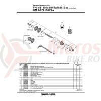 Ax complet pt. butuc Shimano pt. FH-M8110B 148mm