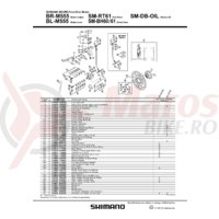 Ax placute Shimano BR-M555 + siguranta