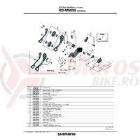 Ax Shimano RD-M9000 B pentru direct mount